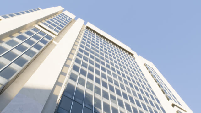 up angle of multi-story office building. adam clayton powell jr state offices