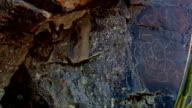 Upside down person Ancient Native American Indian Rock Art at Petroglyph Lake Hart Mountain National Antelope Refuge 34