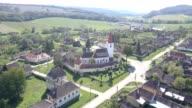 Upward flight near the fortified church in Bruiu
