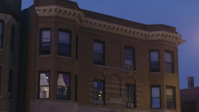 WS TU Urban apartment building at night