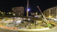 Urban Construction site timelapse