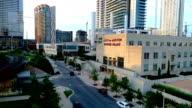 Urban low near power plant Austin Texas USA cityscape skyline urban sprawl forward