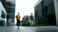 HD SLOW MOTION: Urban Man Jogging