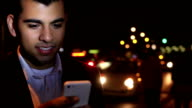 Urban. Messaging young man.