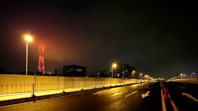 Urban road renovated in Guangzhou, China