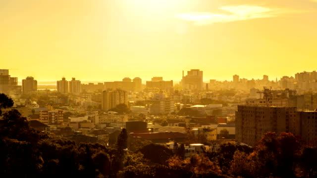 Urban Sunset Time Lapse