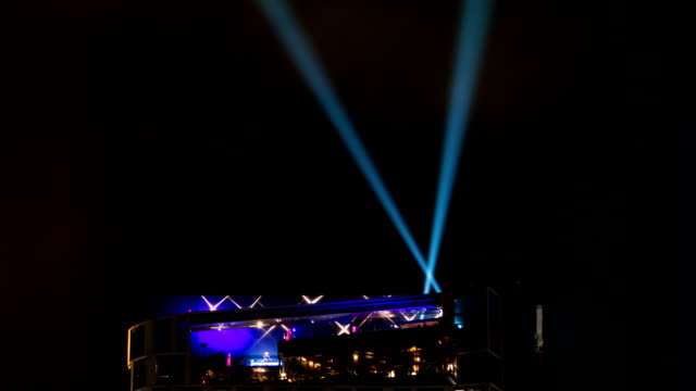 Urban Scene with spotlights