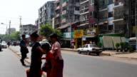 Urban streets of Myanmar