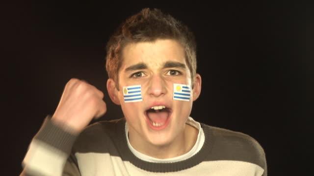 Uruguay football / soccer sports fan - HD & PAL