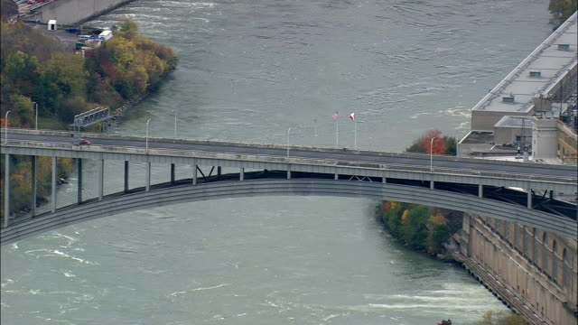 Usa And Canada Border Crossing - Aerial View - New York,  Niagara County,  United States