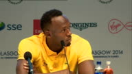 Usain Bolt press conference Talks of enjoying travelling to Australia / asked about the individual 100m men's sprint / I always stay in the athlete's...