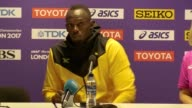 Usain Bolt's press conference the day after his last ever race