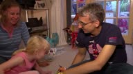 Use of animal organs in human transplants moves a step closer ENGLAND INT Various of Gareth Jones who needs a new liver playing with his daughter...