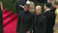 Usher and Italo Zucchelli at 'China Through The Looking Glass' Costume Institute Benefit Gala Arrivals at Metropolitan Museum of Art on May 04 2015...