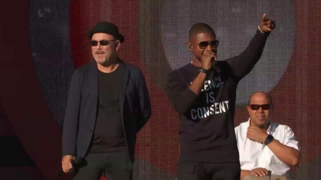PERFORMANCE Usher Rubén Blades Kenyan Boys Choir at 2016 Global Citizen Festival In Central Park To End Extreme Poverty By 2030 at Central Park on...