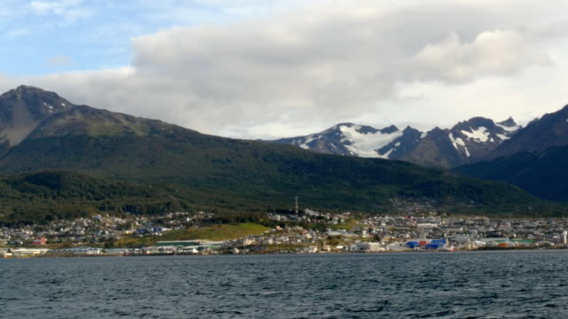 Ushuaia city as seen from the sea
