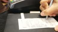 Using credit card , sign signature