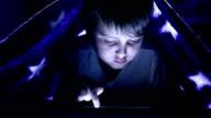 Using Digital Tablet under Bed Sheets