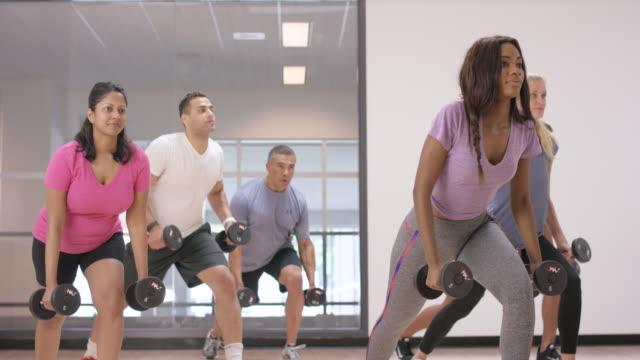 Het gebruik van halters in Fitness klasse