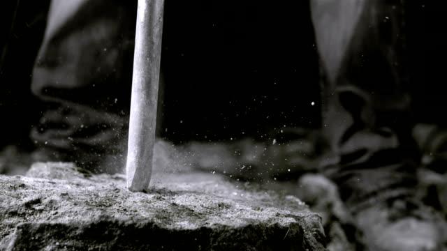 Using Jackhammer On A Rock (Super Slow Motion)