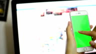 Using smart phone green screen.