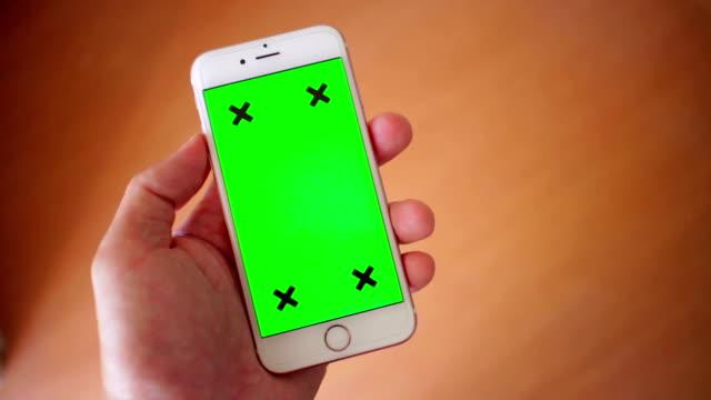 Using smart phone,Green screen,Close up
