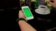 using smartphone,Greenscreen