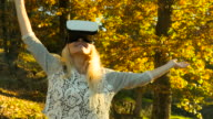 Using Vr headset in forest