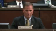 Utah Congressman Chris Stewart tells former Homeland Security Secretary Jeh Johnson at a hearing of the House Intelligence Committee inquiring into...