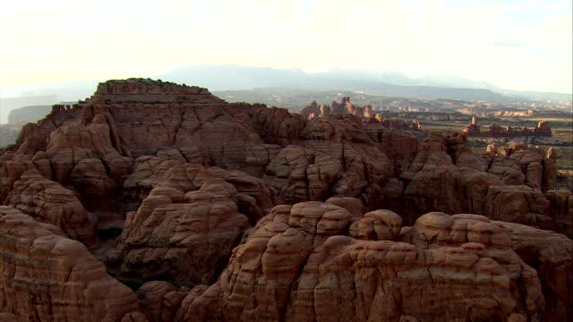 Utah Rock Features Aerial