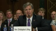 Utah Senator Orrin Hatch Iowa Senator Chuck Grassley engages nominee for director of the Federal Bureau of Investigation Christopher Wray about...