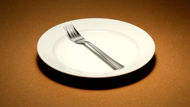 Utensil on a plate