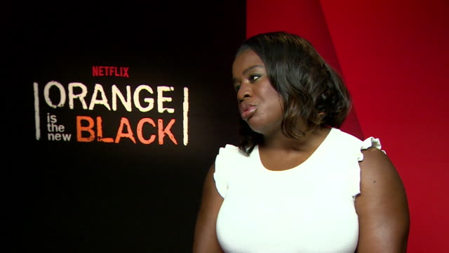 NTERVIEW Uzo Abuba on dealing with more serious issues in this season at 'Orange is the New Black' Season 5 Interview at Mandarin Oriental Hyde Park...