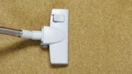 vacuum cleaning carpet close up