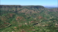 Valley Of A 1000 Hills Near Mbhukubhu  - Aerial View - KwaZulu-Natal,  iLembe District Municipality,  Ndwedwe,  South Africa