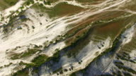 Valley of white mountains, aerial video