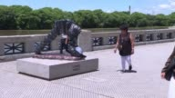 Vandals in Buenos Aires destroy a statue of Argentine superstar Lionel Messi leaving a sculpture of the five time Ballon d'Or winner without its head...
