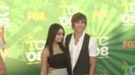 Vanessa Anne Hudgens and Zac Efron at the 2008 Teen Choice Awards at Los Angeles CA