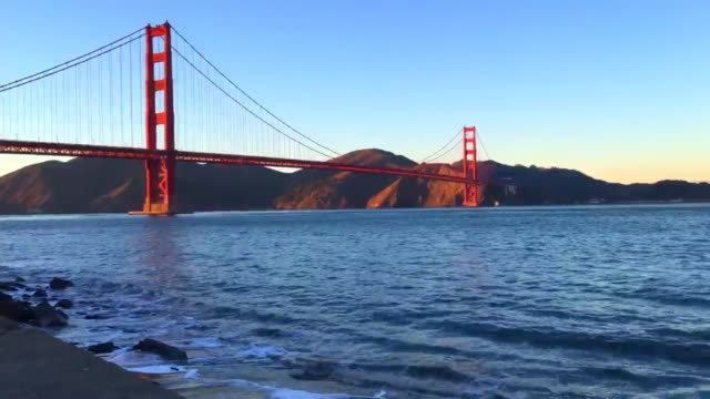 Varied shots of the Golden Gate Bridge in San Francisco