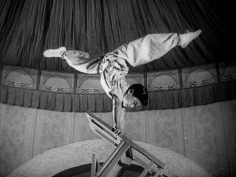 A variety of acrobatic teams perform on the stage at the Peking Circus
