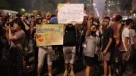 Varios miles de personas se manifestaron en Sao Paulo Rio de Janeiro y otras ciudades de Brasil contra una sentencia que abrio la posibilidad de...