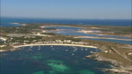 Various aerials Rottnest island including lighthouse marinas and lakes Geordie Bay and main settlement tourist accommodation apartments Western...