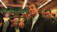 Various clips of Ted Cruz shopping for cheese and meeting supporters at the Mars Cheese Castle in Somers Wisconsin