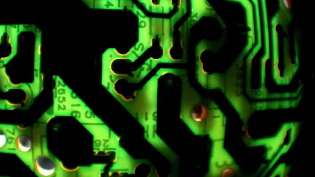 Various close up shots of circuit boards