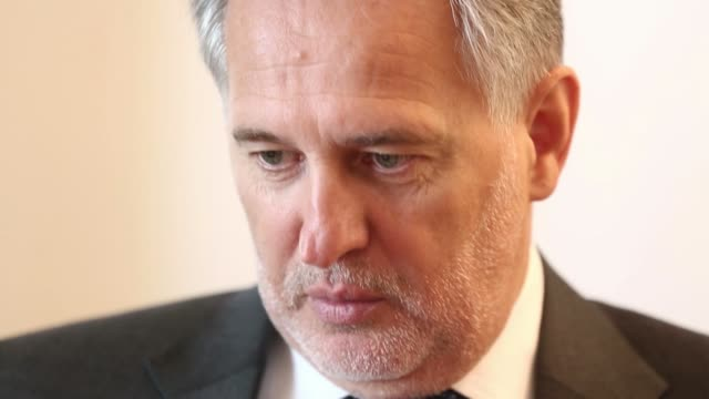 Various cutaway shots of Dmitry Firtash the Ukrainian billionaire during an interview at the Group DFs offices in Vienna Austria on Saturday May 10...