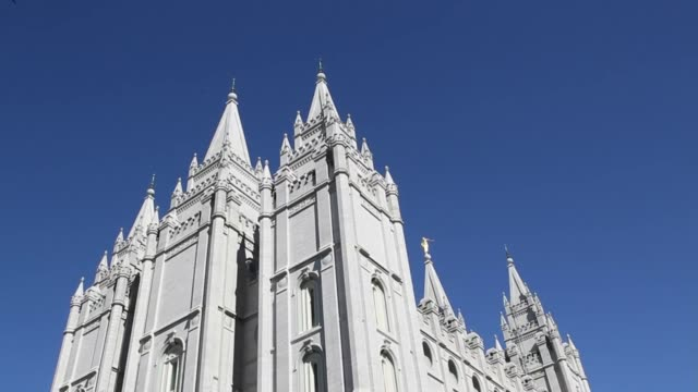 various exteriors and views of the Salt Lake Temple largest and bestknown of the Church of Jesus Chirst of Latterday Saints Salt Lake Temple on...