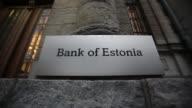 Various exteriors of Estonia Central Bank Estonia Central Bank on November 14 2011 in Tallinn Estonia