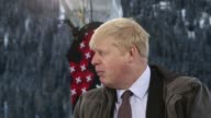 Various general views Boris Johnson mayor of London during a Bloomberg Television interview on day two of the World Economic Forum in Davos...