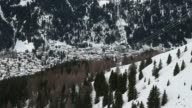 Various general views from the Jakobshorn cable car as it travels down the mountain slope towards the town of Davos Switzerland on Saturday Jan 18...