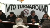 Various NGOs and 'Occupy Geneva' activists protest at the World Trade Organisation meeting in Switzerland criticising the policies of trade...